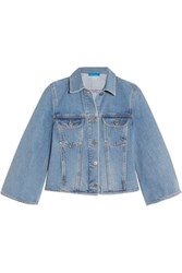 Mih Jeans M.I.H Arch Cropped Denim Jacket Mid Denim