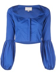 Alexis Cropped Long Sleeved Top Blue