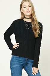 Forever 21 Open Elbow Fisherman Sweater