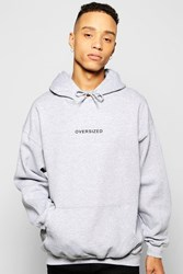 Boohoo Oversized Hoodie With Print Grey