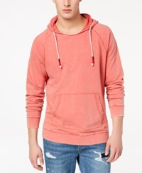 American Rag Men's Washed Raglan Sleeve Hoodie Created For Macy's Red
