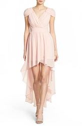 Women's Tfnc 'Hadie' High Low Ruched Dress