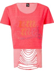 Skinbiquini Hi Low T Shirt Pink And Purple