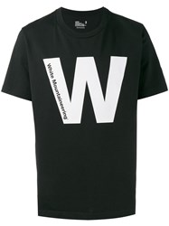 White Mountaineering Printed Short Sleeve T Shirt Black