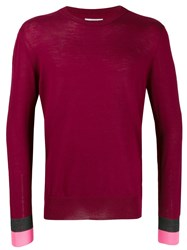 Lc23 Long Sleeve Fitted Sweater Red