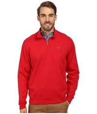 Vineyard Vines 1 4 Zip Jersey Red Velvet Men's Long Sleeve Pullover