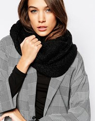 French Connection Chunky Knit Snood Black