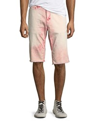Prps Faded Cotton Twill Shorts Red