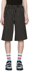 Opening Ceremony Black Pinstriped Boxing Shorts
