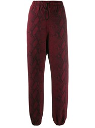 Alexander Wang T By Snake Print Trousers Red