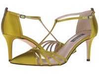 Sarah Jessica Parker Carrie 70 Rich Chartruese Satin Women's Shoes Yellow