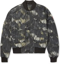 Canada Goose Faber Printed Canvas Bomber Jacket Gray