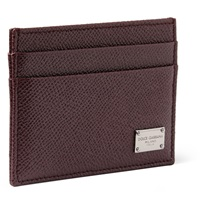 Dolce And Gabbana Textured Leather Cardholder Burgundy