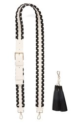 Kate Spade New York Mix It Up Guitar Bag Strap And Tassel Black Black Cement