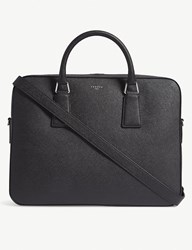 Sandro Downtown Large Saffiano Leather Briefcase Noir