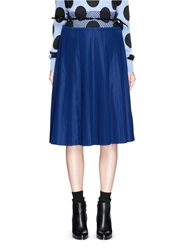 Toga Archives Mesh Waist Pleat Jersey Skirt Blue