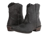 Roper Brush Off Ankle Boot Snip Toe Black Cowboy Boots