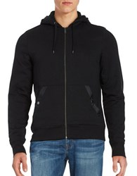Michael Kors Solid Hooded French Terry Hoodie Black