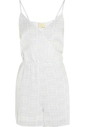 Band Of Outsiders Printed Silk Playsuit