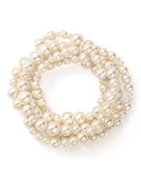 Bloomingdale's Cultured Freshwater Pearl Intertwined Five Row Stretch Bracelet 3 8Mm 100 Exclusive White