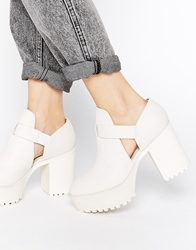 Monki Cerise White Cut Out Shoe Boots