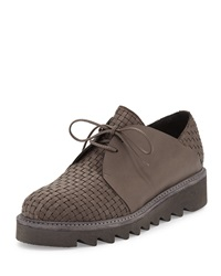 Woven Calf Leather Oxford Gray Henry Beguelin