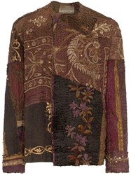 By Walid Etienne Embroidered Silk Jacket Brown