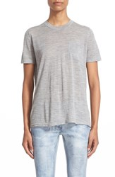 Alexander Wang Women's Wool And Silk Knit Crewneck Tee