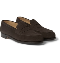 J.M. Weston 180 The Mocassin Suede Loafers