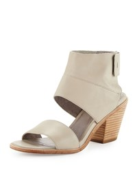 Eileen Fisher Art Leather Ankle Cuff Sandal Stone