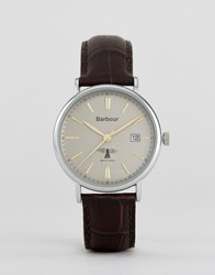 Barbour Bb069gybr Leather Watch In Brown Brown Tan