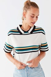 Urban Outfitters Uo Charlie Striped Polo Tee Multi