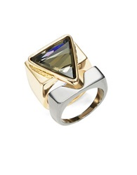 A.B.S. By Allen Schwartz Triangle Two Tone Ring Set Two Tone