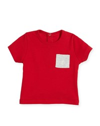 Petit Bateau Short Sleeve Cotton Pocket T Shirt Size 6 36 Months Red