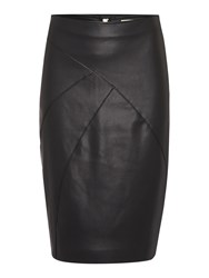 Linea Addison Pu Pencil Skirt Black