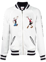 Joyrich 'Popeye And Olive Souvenir' Jacket White