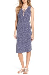 Sun And Shadow Women's Strappy Tank Midi Dress Blue Coronet