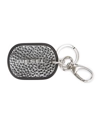 Diesel Silver Stop Over Key Ring With Logo