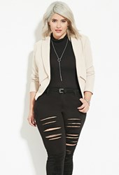 Forever 21 Plus Size Textured Blazer Taupe
