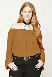 Forever 21 Plus Size Peasant Top Amber