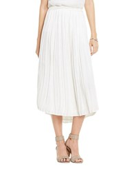 Vince Camuto Petite Solid Pleated Skirt New Ivory
