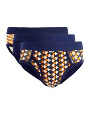 Topman Assorted Colours Geo Print Briefs 3 Pack Multi