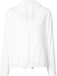 Vince Drawstring Hoodie Women Cotton Xs White