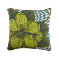 Thomas Paul Optical Botany Pillow 18 X 18 Blue