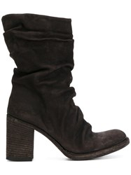 Officine Creative Vernon Boots Calf Leather Horse Leather Leather Rubber Brown