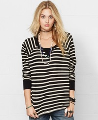 Denim And Supply Ralph Lauren Crew Neck Striped Sweatshirt