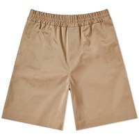 Acne Studios Richard Cotton Twill Short Brown