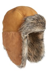 Uggr Women's Ugg Genuine Shearling Trapper Hat Beige Chestnut