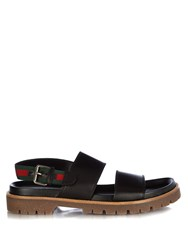 Gucci Double Strap Leather Sandals