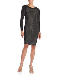 Calvin Klein Embellished Sheath Dress Black Hematite
